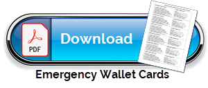 Emergency Wallet Cards